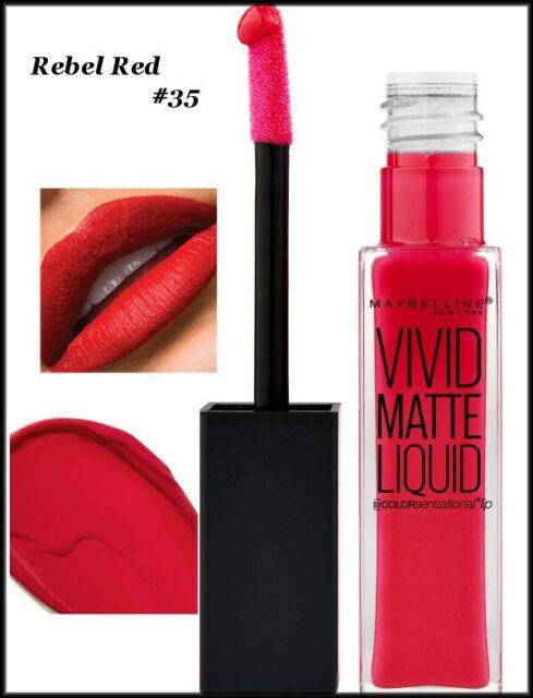 3 X Maybelline Color Sensational Vivid Matte Liquid ...