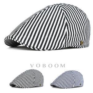 Casquette-de-lierre-a-rayures-en-coton-beret-pour-hommes-chapeau-de-golf