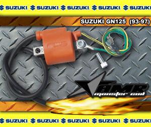 New Hi Performance Ignition Coil Suzuki GN125 1999 2000 2001