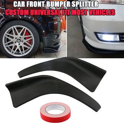 Universal Car Modified Front Bumper Canard Lip Splitter Body Shovels Protector Auto Bumper Lip Splitter