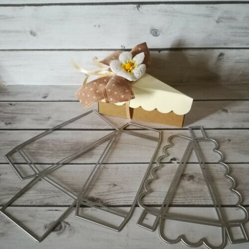 Caja del caramelo Triángulo Metal Corte muere scrapbooking relieve regalo de arte de papel