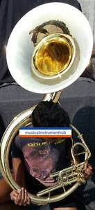 SOUSAPHONE-22-034-BELL-IN-BRASS-POLISH-MADE-OF-PURE-BRASS-CASE-BOX-FREE-SHIPPING