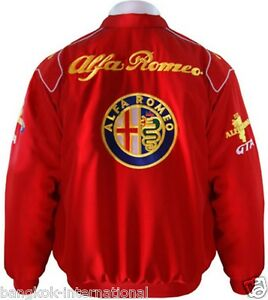 Jacket Blouson Jaquette Alfa Romeo Red Racing Team All Logo In