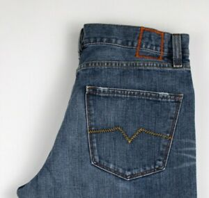 HUGO-BOSS-Hommes-Jeans-Jambe-Droite-Taille-W32-L34-AKZ348