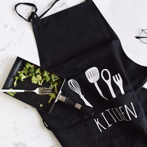 Black Floral Vintage Apron Plain Chefs Pocket Half Pinny Polka Dot 50s Pinafore