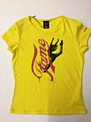 Size XS /& M  80's Style Official FAME T-Shirts Yellow by Freddy Musicals