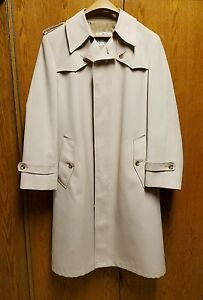 RUE-ROYAL-NINO-CERRUTI-beige-Men-039-s-Trench-Coat-Sz-38
