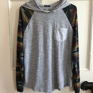 Brooklyn-Cloth-The-Streaky-Hoodie-Womens-Size-M-Top-Medium-Gray-Long-Sleeve
