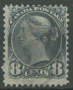 Canada 1893 Regina Viktoria 8 cent a 35 PUNZONATO, piccoli errori