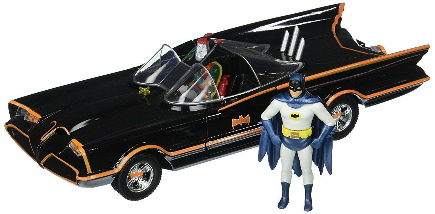 Jada Toys 1:24 Scale Batman 1966 Batmobile & Figure Diecast NEW