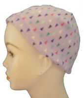 Violet Geometric Chemo Cancer Hairloss Hat Sleep Cap Soft 100% Cotton Scarf Cpap