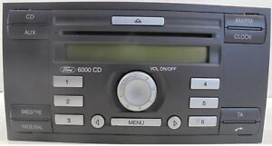 ford autoradio single cd 6000 mit code focus fiesta. Black Bedroom Furniture Sets. Home Design Ideas