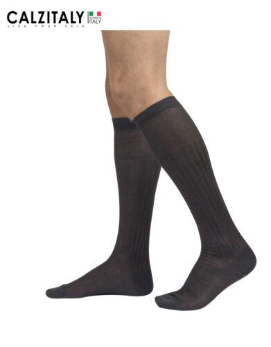 Combed Plain Socks for Men Made in Italy Knee High Cotton Socks Suit Socks