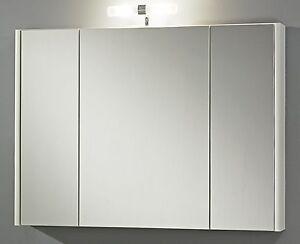 Led Armoire de Toilette 60 ou 80 Cm Meuble Salle Bain 2700 K Miroir ...