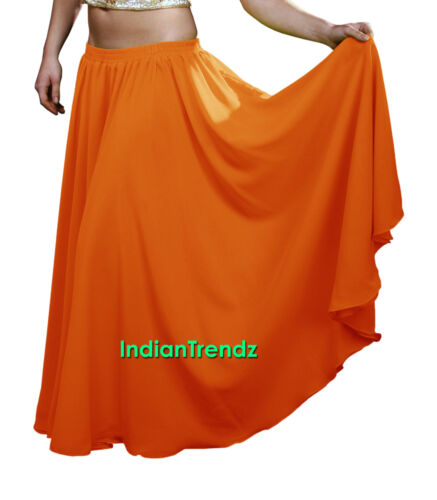 Chiffon 2 Layer Gypsy Skirts Full Circle Belly Dance Flamenco Double JUPE Rock