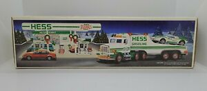 1991 Hess Toy Truck and Racer Real Lights New in box