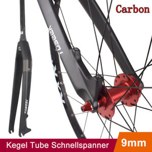 "TOSEEK 26//27.5//29/"" 28.6mm Vollen Carbon Faser Fahrrad Gabel Tapered Starrgabel"