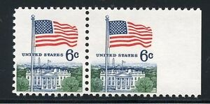 UNITED-STATES-SCOTT-1838-HORIZ-PAIR-MPERF-BETWEEN-STAMP-amp-SELVAGE-MINT-NH