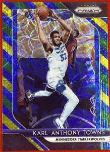 Karl-Anthony Towns Timberwolves 2018-19 Panini Prizm Choice BLUE YELLOW GREEN