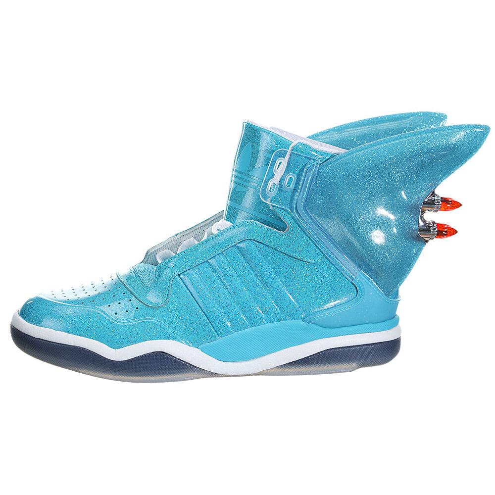 Adidas Jeremy Scott JS Shark Fin Turnschuhe Turnschuhe Trainers Schuhe blau Unisex