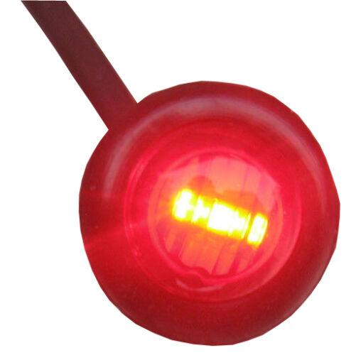 10 x 12V Luci Universale Camion 24V rosso small round LED PULSANTE POSTERIORE LUCI