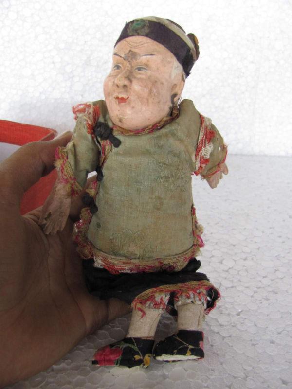 Vintage japonés Muñeca De Juguete De Paño cubierto Artesanías