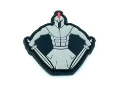 Spartan Warrior Molon Labe Grey PVC Airsoft Paintball Morale Patch