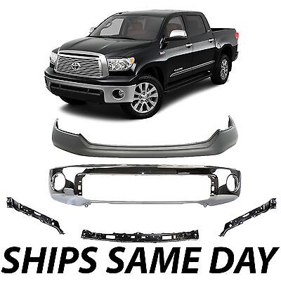 NEW Chrome Steel Front Bumper for 2007-2013 Toyota Tundra Truck W// Park Assist
