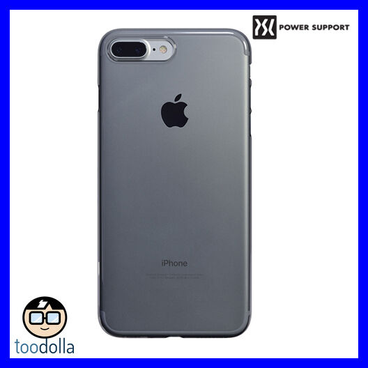 official photos 50a7f 864cd Power Support Air Jacket Case + Film iPhone 7 Plus iPhone 8 Plus Clear  Black LE