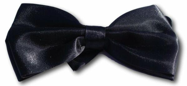 2019 Moda Pre Tied Black Bow Tie