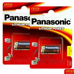 1x PILA PANASONIC CR123 3V LITIO CAMARA 123A DL123A CR17345 ELCR123AP CR123A