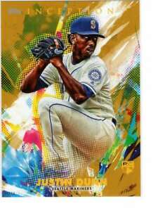 Justin-Dunn-2020-Topps-Inception-5x7-Gold-51-10-Mariners