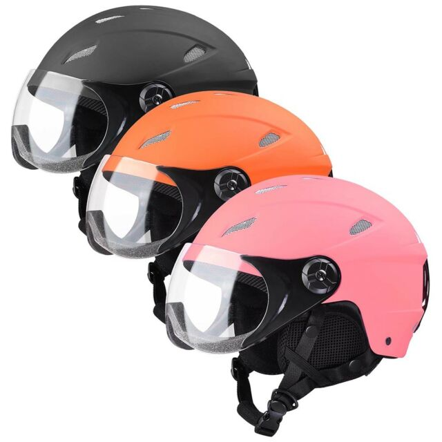 Adult Kid Snow Sports Helmet Ski Skateboard Protection w// Goggles ASTM Certified
