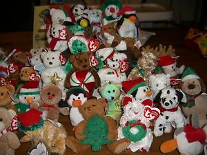 W-F-L TY Jingle Beanies Stuffed Toy Christmas Pendant Approx. 5 1/2in Teddy