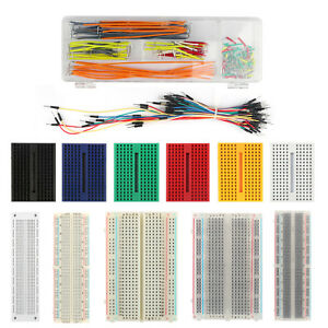 Active Components Flight Tracker Mini Prototype Breadboard Clear Crystal 400 Tie Point Solderless Modular Board