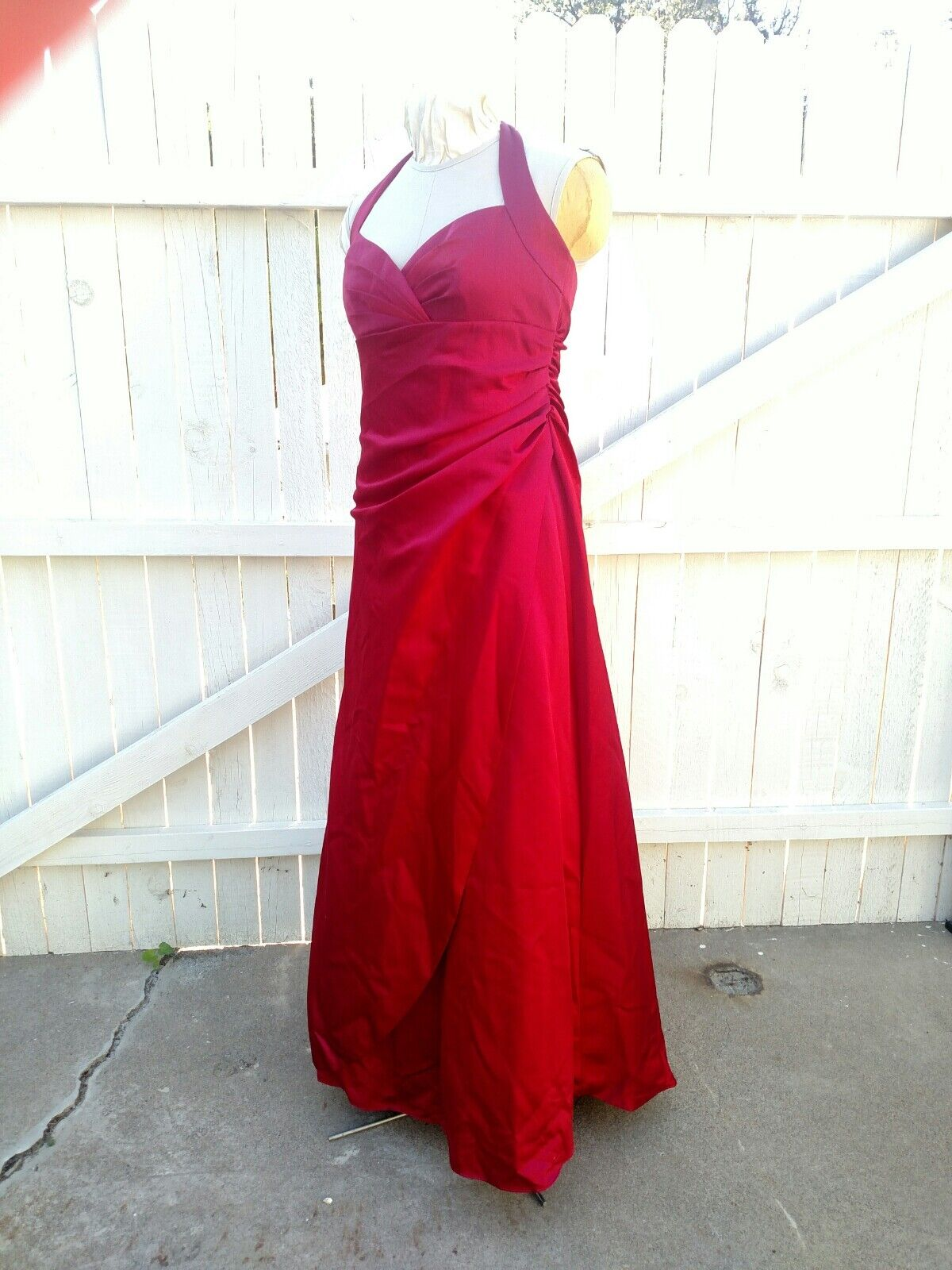 Preowned RED FORMAL GOWN FULL OUTFIT David's Bridal #81544 Size12 w/ACC/SHOES