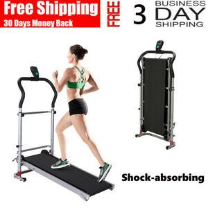 Cinta-Correr-Plegable-Manual-de-maquina-en-funcionamiento-cardio-fitness-ejercicio-incline-Home