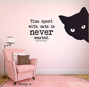 Awesome Image Is Loading Cat Wall Sticker Sigmund Freud Quote Personalised Vinyl