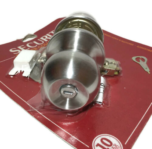 Securit Stainless Steel Privacy Knob Set 60MM 70MM Door Lock Bathroom Handle