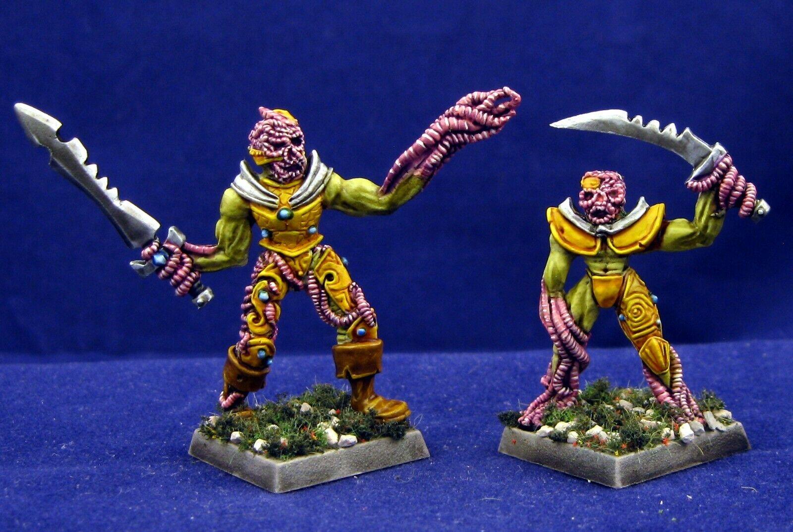 2 Painted Worm Skulls Earthdawn Heartbreaker AD&D Pathfinder RPG Metal Miniature