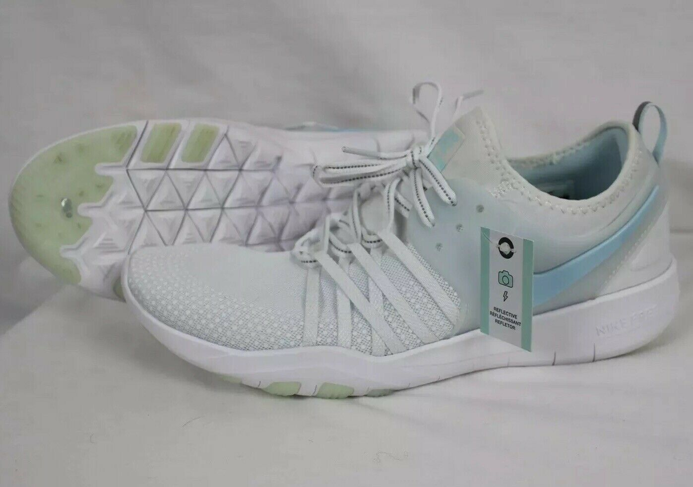 New Womens Nike Free TR 7 Reflect Trainer shoes AA2238-100 sz 11 White Glacir