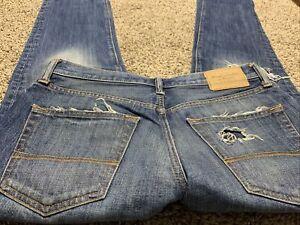 Abercrombie Fitch Ajustado Recto Pantalones Vaqueros Del Disenador Para Hombre Talla 31x32 Ebay