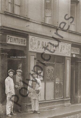 Photo ancien commerce Toulouse Magasin Peinture Peintre Décoration repro an.1920