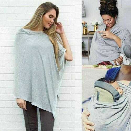 Breastfeeding Cover Up Nursing Cape Shawl Poncho Cotton Baby Scarf
