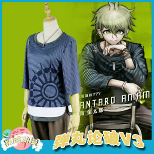 Anime Danganronpa V3 Killing Harmony Amami Rantarou Cosplay Costume Uniform Set