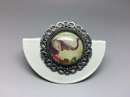 Lucky Elefante Broche de Plata a mano 35mm Vida Silvestre naturaleza Joyas Bolsa De Regalo