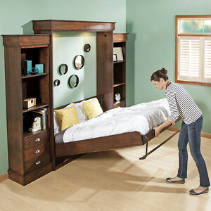 queen-size deluxe murphy bed hardware kit, vertical | ebay