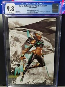 War Of The Realms New Agents Of Atlas 1 cgc 9.8 2nd Print Virgin Mico Suayan