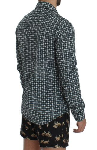 NEW $500 DOLCE /& GABBANA Pajama Shirt Green Hat Print Cotton Sleepwear IT5//US M