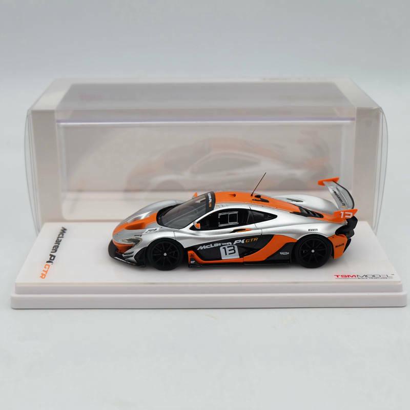 Modelo de TSM 1 43 McLaren P1 GTR  13 2015 Plata Colección de edición limitada de resina